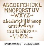 vintage doodle sketch font | Shutterstock .eps vector #203393806
