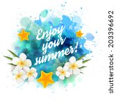 summer background with... | Shutterstock . vector #203396692