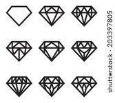 symbol of diamond  vector set | Shutterstock .eps vector #203397805