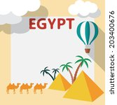 egypt travel flat design...