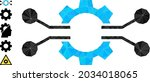 triangle gear electronics...   Shutterstock .eps vector #2034018065