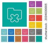 cancel folder outline multi... | Shutterstock .eps vector #2034030005