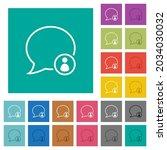 message owner outline multi... | Shutterstock .eps vector #2034030032
