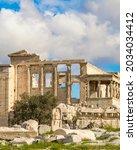 Famous Erechtheum Temple At...