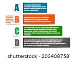 infographics set for 4 options | Shutterstock .eps vector #203408758
