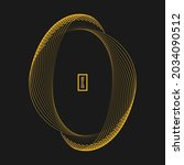 yellow concentric ellipses in...   Shutterstock .eps vector #2034090512