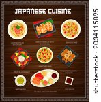 japanese food and asian cuisine ... | Shutterstock .eps vector #2034115895