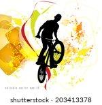 background design with bmx... | Shutterstock .eps vector #203413378