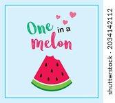 watermelon one in a melon...   Shutterstock .eps vector #2034142112