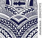vector of tribal geometric... | Shutterstock .eps vector #2034157472