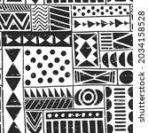 vector of tribal geometric... | Shutterstock .eps vector #2034158528