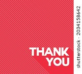 vector of thank you text  in... | Shutterstock .eps vector #2034158642