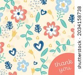 vector of thank you text  in... | Shutterstock .eps vector #2034158738