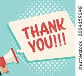 vector of thank you text  in... | Shutterstock .eps vector #2034159248
