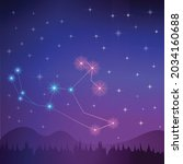 vector of a constellation of... | Shutterstock .eps vector #2034160688