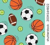vector of rugby  tennis ... | Shutterstock .eps vector #2034164822