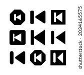 previous icon or logo isolated...