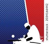 vector of silhouetted baseball... | Shutterstock .eps vector #2034166442