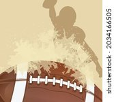 vector of american football... | Shutterstock .eps vector #2034166505