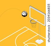 vector of basketball court with ... | Shutterstock .eps vector #2034166835