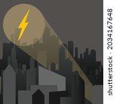 vector of lightning bolt symbol ... | Shutterstock .eps vector #2034167648