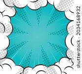 vector of comic book explosion... | Shutterstock .eps vector #2034168932