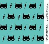 vector of black cat masks and... | Shutterstock .eps vector #2034169112