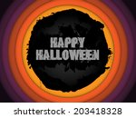 halloween background circle... | Shutterstock . vector #203418328