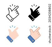 easy icon. simple outline ... | Shutterstock .eps vector #2034208802
