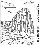 mono line illustration of... | Shutterstock .eps vector #2034212762