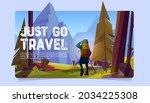 just go travel cartoon banner.... | Shutterstock .eps vector #2034225308