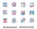 seo optimization concept flat... | Shutterstock .eps vector #2034247232