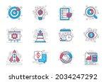 business planning concept flat... | Shutterstock .eps vector #2034247292