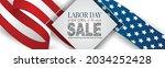 labor day sale banner. usa... | Shutterstock .eps vector #2034252428