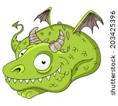 an image of a friendly dragon. | Shutterstock .eps vector #203425396