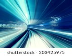 tokyo automated guide way... | Shutterstock . vector #203425975