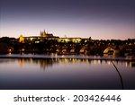 Night Panorama Of Prague  Czec...