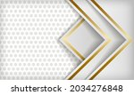 white abstract luxury dimension ... | Shutterstock .eps vector #2034276848