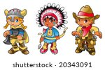 Historical characters. Funny cartoon and vector illustration, isolated objects - stock vector