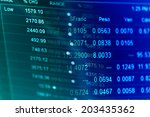 financial data on a monitor.... | Shutterstock . vector #203435362
