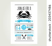 barbecue party invitation. bbq...   Shutterstock .eps vector #203437486