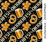 vector oktoberfest seamless... | Shutterstock .eps vector #2034399665
