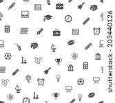 education seamless pattern | Shutterstock .eps vector #203440126