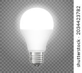 glowing led bulb isolated on... | Shutterstock .eps vector #2034423782