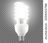 glowing led bulb isolated on... | Shutterstock .eps vector #2034423788