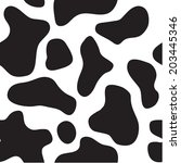 black and white cow texture | Shutterstock .eps vector #203445346