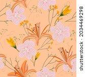 beautiful endless gentle floral ...   Shutterstock .eps vector #2034469298
