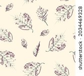 beautiful endless gentle floral ...   Shutterstock .eps vector #2034469328