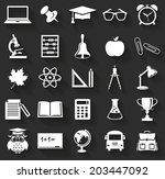 back to school. collection of... | Shutterstock .eps vector #203447092