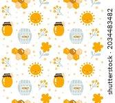 scandinavian kids seamless...   Shutterstock .eps vector #2034483482
